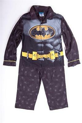 Batman Hero Kids Boys Black Gray Yellow 2 Piece Pajama Pjs Set Top Pants 8 Nwt
