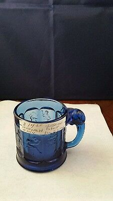 IMPERIAL Cobalt Glass Fairy Tale Mug from Heisey Mold
