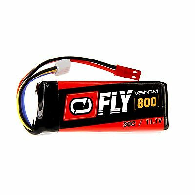 Venom Fly 30C 3S 800mAh 11.1V LiPo Battery with JST Plug for RC Airplane and ...