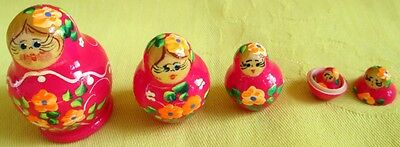 Russian Traditional Nesting Doll/Hand Made-Micro size/5-pcs Set/NEW!!!