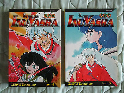 InuYasha Graphic Novel Manga #4 & #5 by Rumiko Takahashi in English
