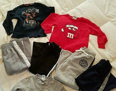 Boys lot size 4T outfits holiday M&M shirt, Oshkosh, play clothes lot