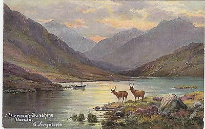 Artist Drawn, Afternoon Sunshine & Deer, BEAULY, Inverness-shire  - E Longstaffe
