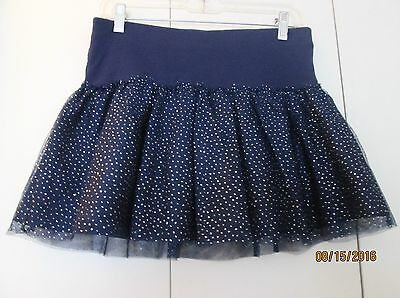 New with Tags Justice 16 Navy Blue Glittery Cotton Above Knee Fall Everyday