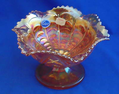Imperial Glass - Rubigold (Marigold) Compote - with Original Stickers