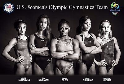 2016 U.s. Women's Gold-Medal-Winning Olympic Gymnastics Team Poster