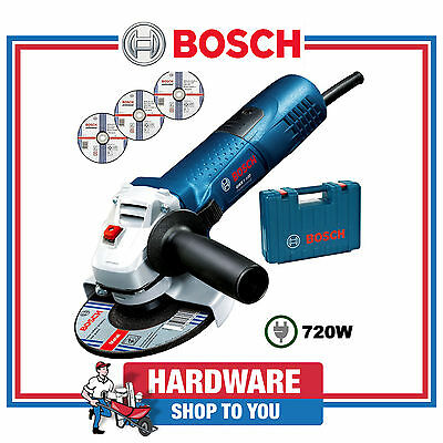Angle Grinder Bosch Blue Professional 720 Watt 100mm GWS 7-100 With Carry Case