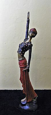 Cold Painted Bronze Art Deco Figurine of an Exotic Lady / Dancer.