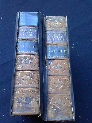 c1875 Edward Gibbons The Decline and Fall of the Roman Empire Illus. 2 Vol