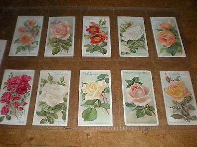 1912 wills  roses (a series)  cigarette cards set of 50