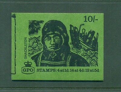 Great Britain 10s Shackleton August 1969 Booklet XP9