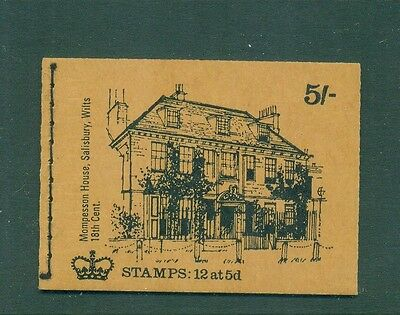 Great Britain 5s Mompesson House December 1969 Booklet HP32