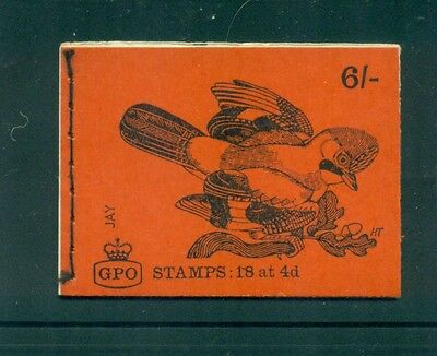 Great Britain 6s Jay Bird March 1969 Booklet QP47