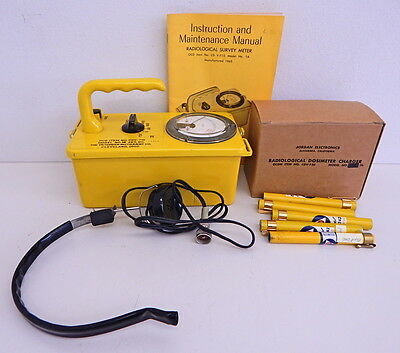 Vintage CDV 715 Radiological Survey Meter Geiger Counter Kit Civil Defense