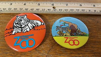 Vintage Milwaukee County Zoo Pinback Buttons