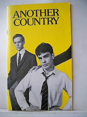ANOTHER COUNTRY Playbill PETER GALLAGHER / PETER MacNICOL Long Wharf CT 1983