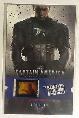 Senitype Captain America The First Avenger Collectible Movie Ticket Film Cell