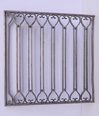 Art Deco Vintage Architectural Bank Building Frame Grill Panel Nickle Over Brass