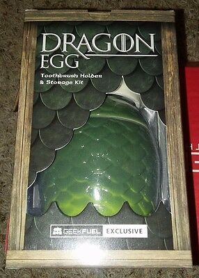 Game Of Thrones Dragon Egg Toothbrush Holder And Storage Kit Geek Fuel Exclusive