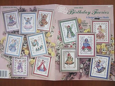 CROSS STITCH Pattern Book 'Birthday Faeries' A design for every by Barbara Baatz