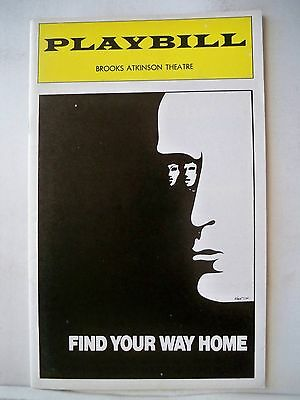 FIND YOUR WAY HOME Playbill  JANE ALEXANDER / MICHAEL MORIARTY NYC 1974