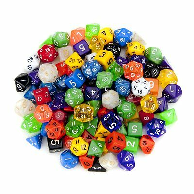 Wiz Dice GDIC-1000 100 Plus Pack of Random Polyhedral Dice in Multiple Colors wi