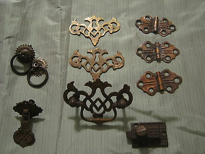 Assortment of vintage furniture hardware