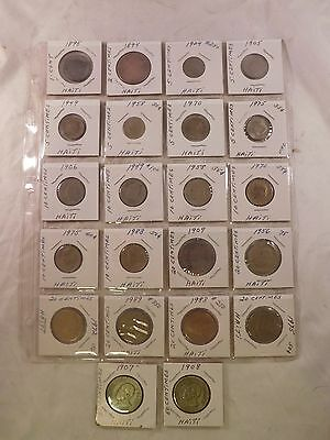 Pre-Owned Lot Of 22 Haiti Coins (T1BA7)