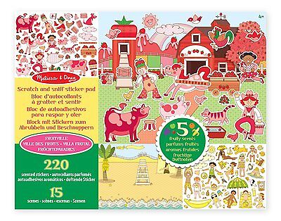 Melissa & Doug Scratch and Sniff Sticker Pad: Fruitville - 220+ Fruit-Scented St