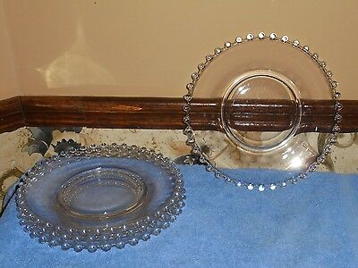"""4 Vintage Imperial Glass Candlewick 7 1/4"""" Salad Dishes"""