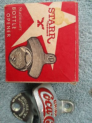 """Starr """"X"""" Coca-Cola Wall Mount Bottle Opener with Box"""