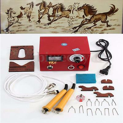 220V 50W Multifunctional Gourd Wood Pyrography Machine Pyrography Tool Set Craft