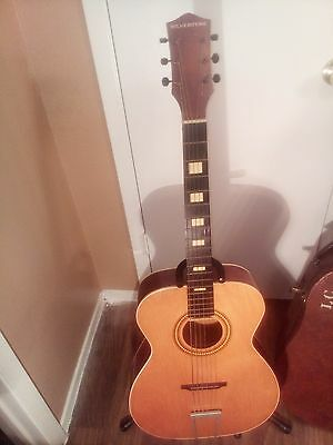 1969 Silvertone Acoustic Guitar Made in the U.S.A  with original hard case