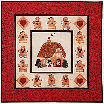 A GINGERBREAD CHRISTMAS APPLIQUE QUILT PATTERN, From Brandywine Design NEW