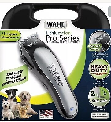 Wahl 9766 Cordless Lithium Ion Pro Series Pet/dog Clippers New