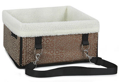 Portable Travel Booster Car Seat Comfort Pet Dog Cat Carrier Puppy Safety Basket