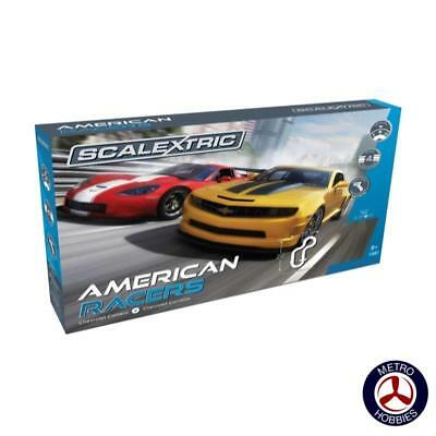 Scalextric American Racers Slot Car Set C1364 Brand New