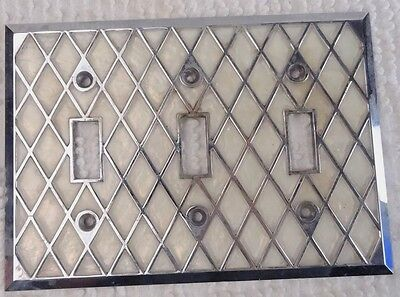 Vintage 3 toggle light swtich and power outlet face plate cover set G