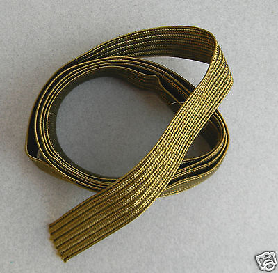 "36"" Section Of Original Army Officer's Olive Drab Cuff Braid For Service Coat"