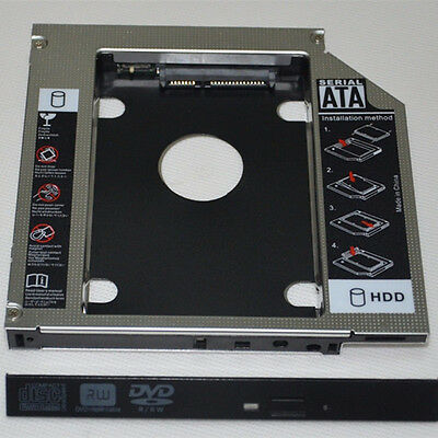 New SATA 3nd HDD Hard Drive Caddy For 12.7mm Universal CD DVD ROM Optical Bay