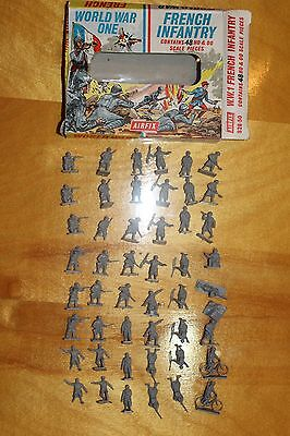 AIRFIX WWI FRENCH INFANTRY Vintage 1960's
