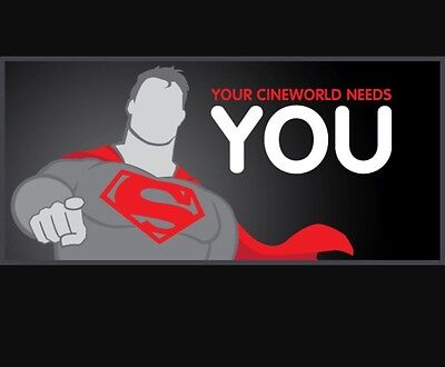 Cineworld unlimited Card 1 extra month free, Code 2 Use *RAF-27DE-93HS-38FY-52SH