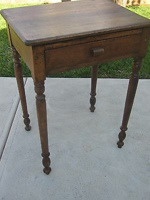 Vintage Timber wood side table hall table with drawer