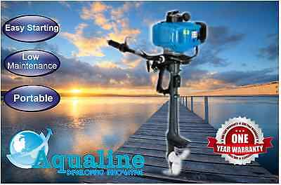 3.5hp Aqualine® Two Stroke Air Cooled Outboard Easy Starting