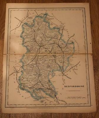 1875 Cary / Cruchley Map of Bedfordshire