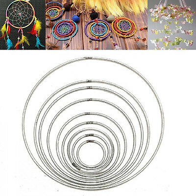 35-160mm Strong Metal Dream Catcher Dreamcatcher Ring Macrame Craft Hoop Magic