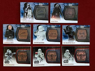 STAR WARS THE FORCE AWAKENS GALACTIC MEDALLION (8) Card Lot FIRST ORDER