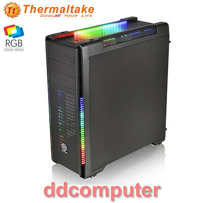 Thermaltake Versa C21 RGB ATX Mid-Tower Gaming Computer PC Case No PSU