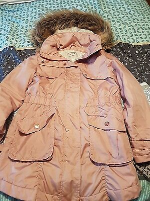 Girls Next Pink Hooded Parka Coat Age 10