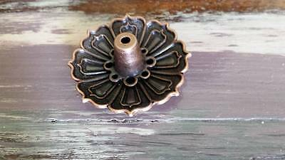 Small Bronze Incense Stick Cone Holder Lotus Flower